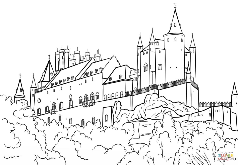 Замок картинки для раскраски