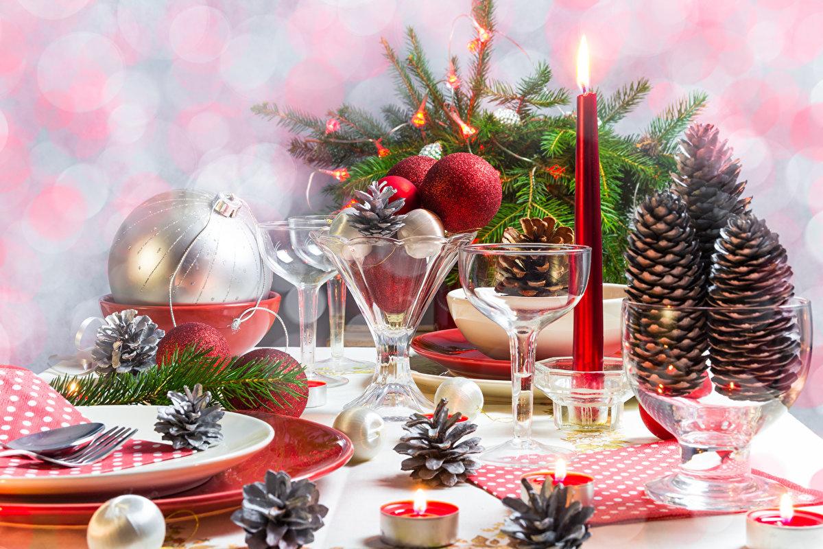 Красивые картинки новогодний стол