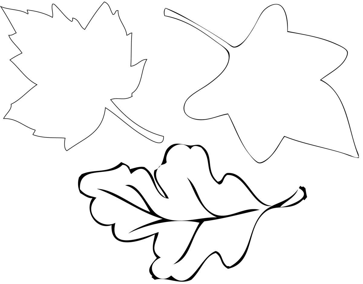 Днем рождения, листик осенний шаблоны для вырезания