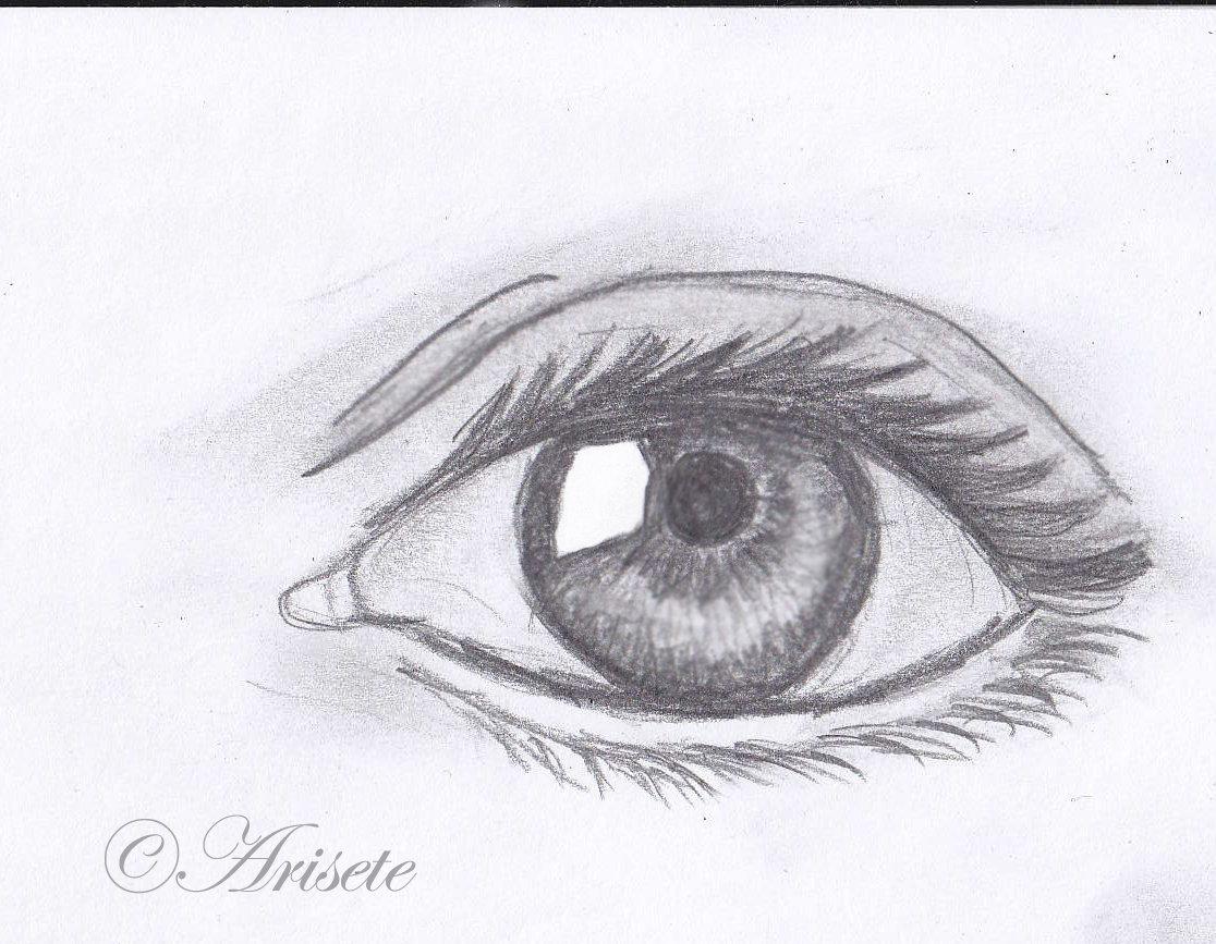 например, картинки глаз рисовать легко хотите