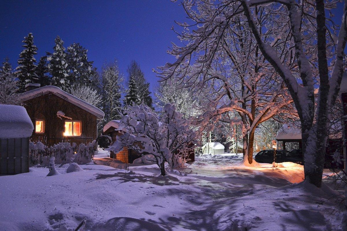 Лунная зимняя ночь картинки изображения
