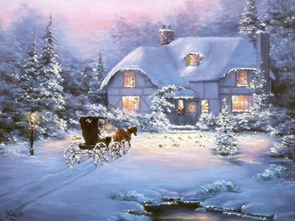 Картинки новый год зима анимация