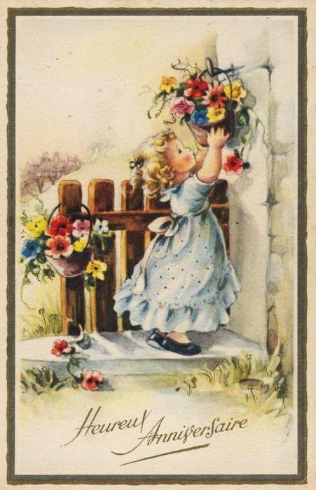 Хорошей недели, с днем рождения винтаж открытки орешки