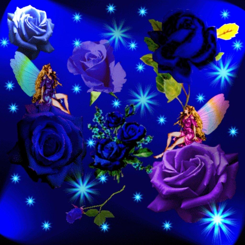 Для, блестящие открытки спокойной ночи с розами