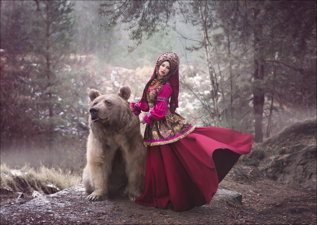 Девушка медведь фото