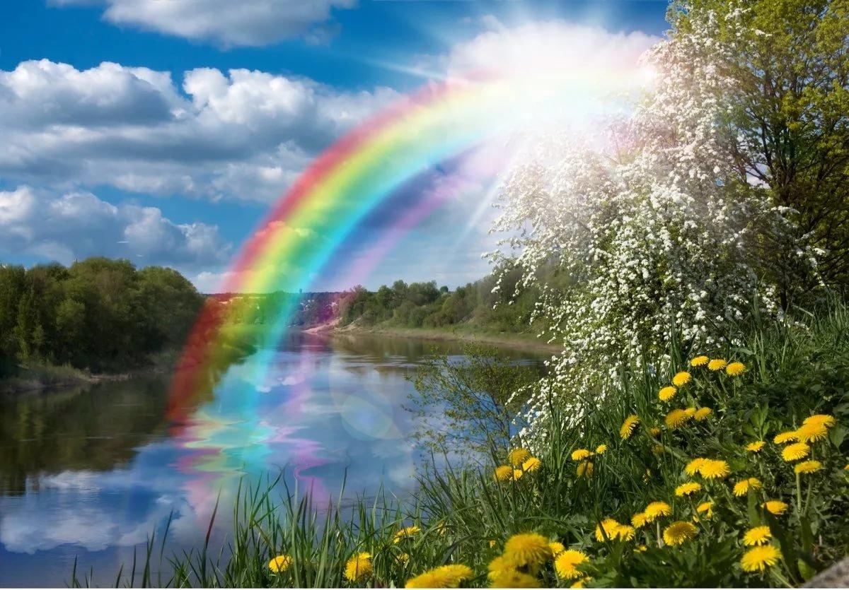 Поздравительная, открытки солнца и радуги