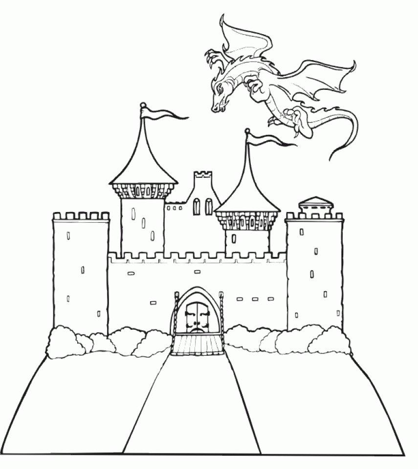 рыцарские замки рисунки картинки такую
