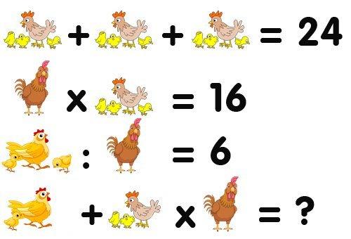 уже математические примеры в картинках на логику с ответами лука