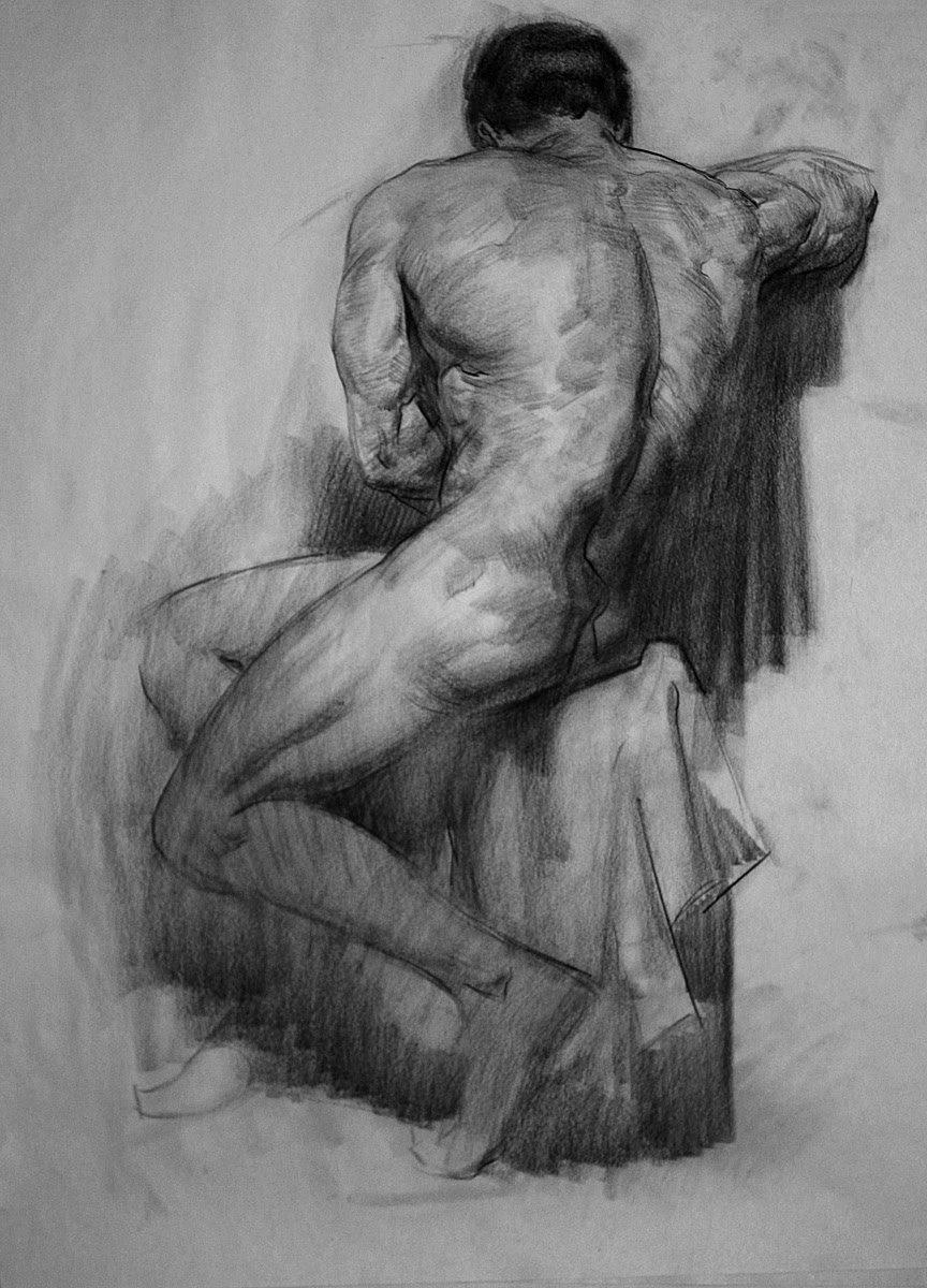 Мужчина картинка нарисованная со спины