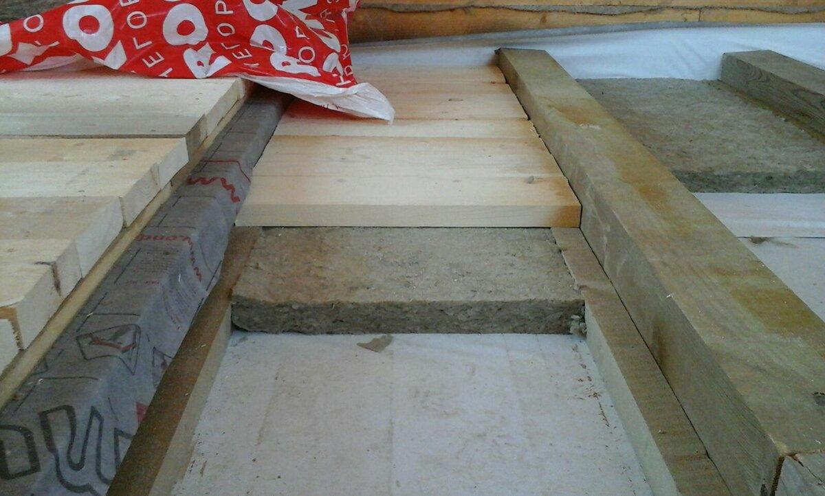 перекрытие пола первого этажа в доме