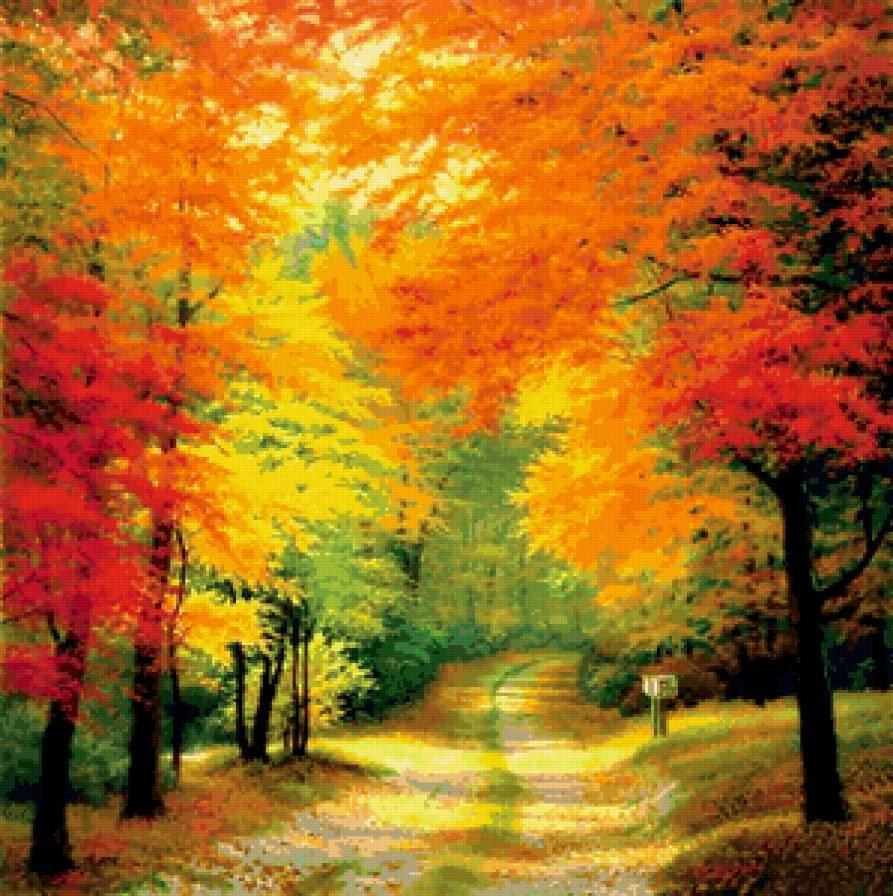 многих пейзажи в картинках про осень нашей