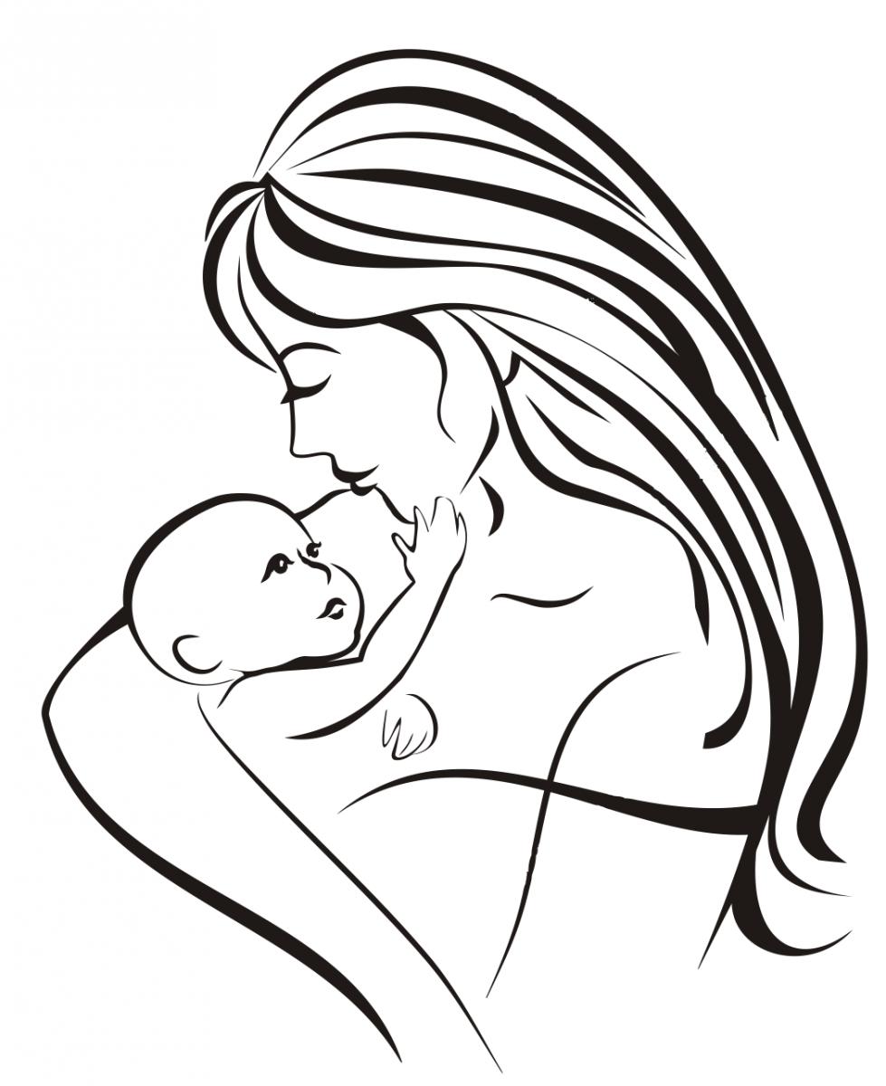 Картинки мать и ребенок нарисованные, открытки