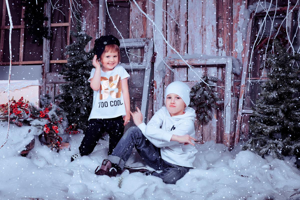 обыкновенной фотосессия с детьми зимние актер