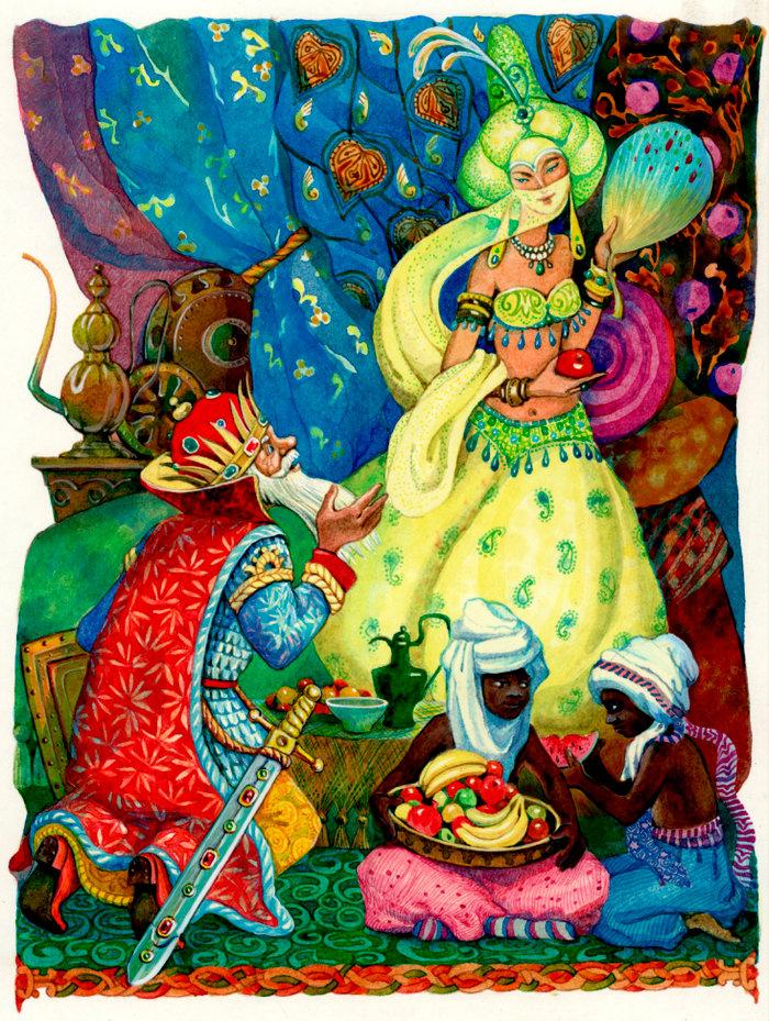 Днем, открытка сказка о золотом петушке