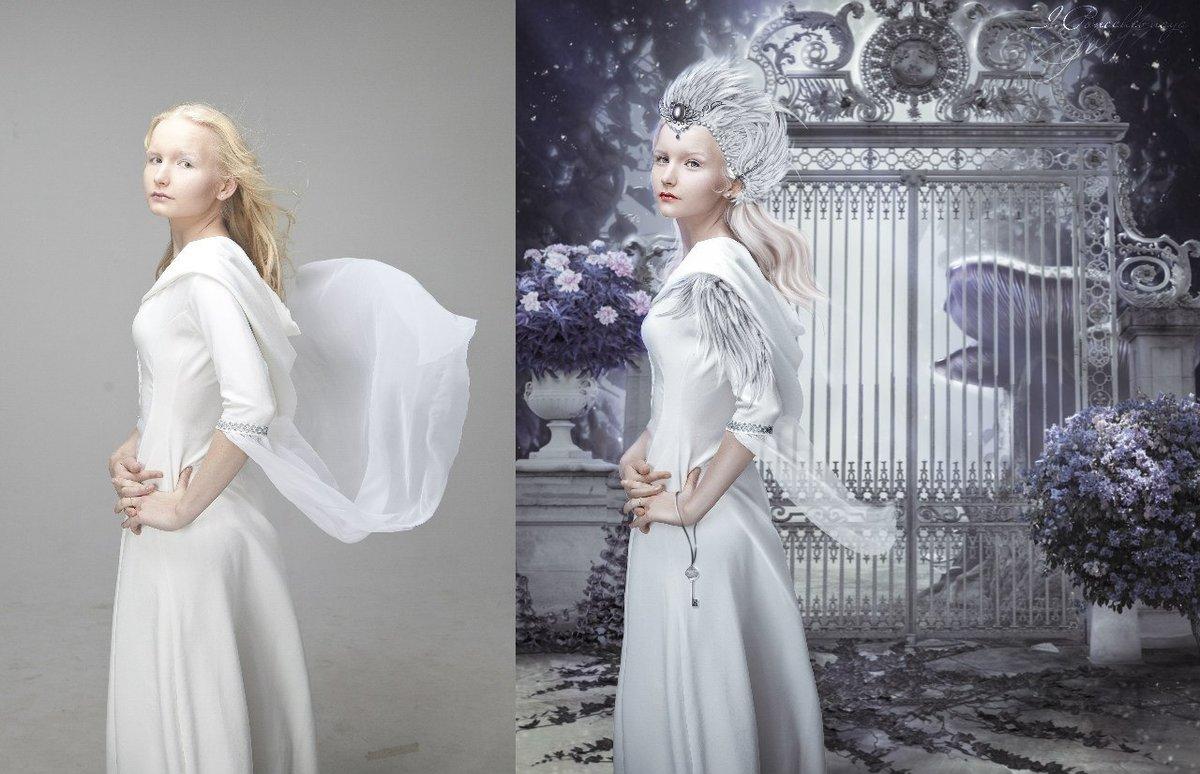 Обработка фото с понижением контраста