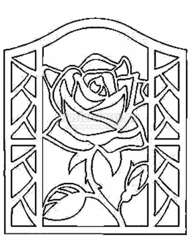 День железнодорожника, открытка вытынанка с цветами
