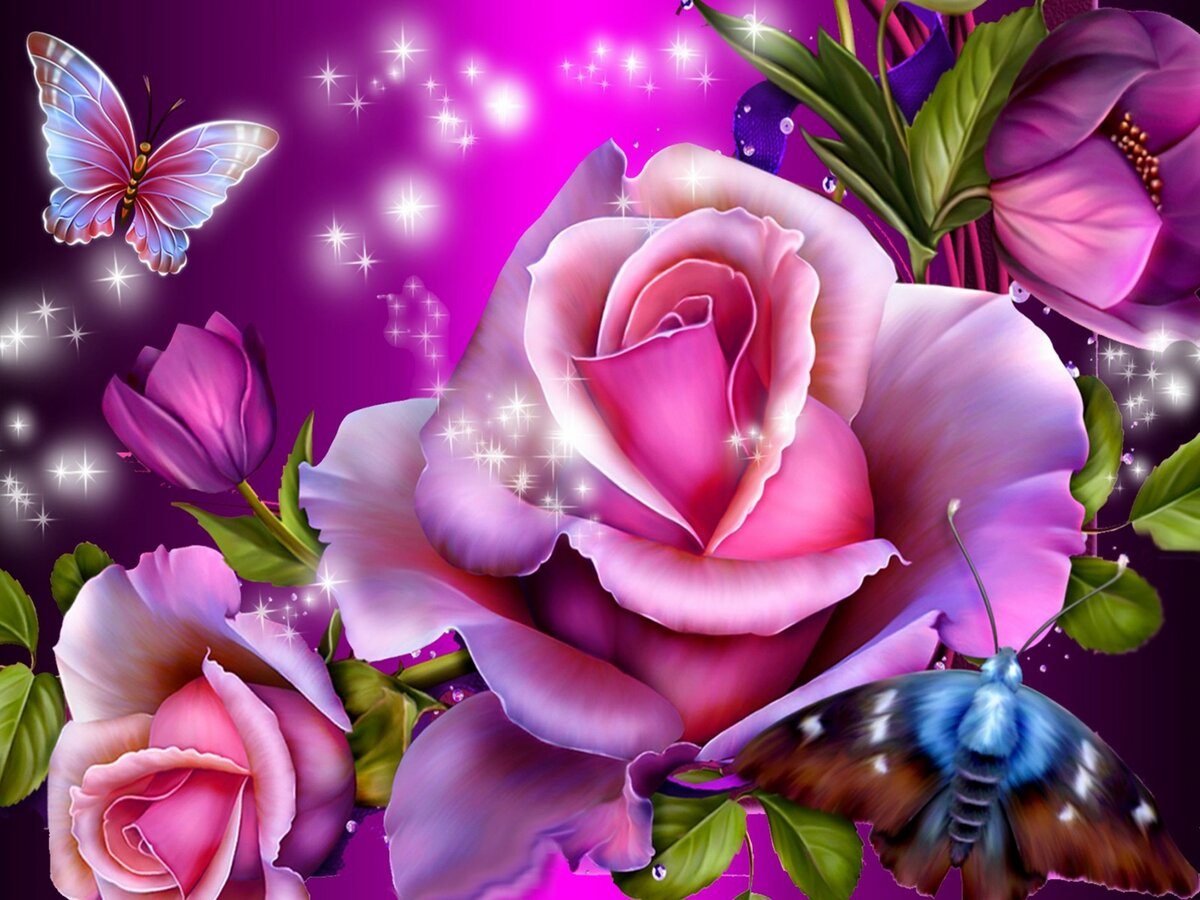 ловит мерцающие анимационные открытки цветы злись