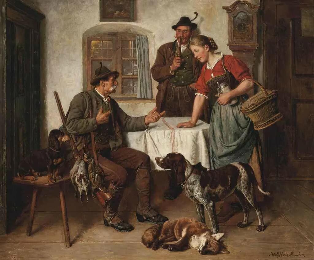 Немцы в картинах художников