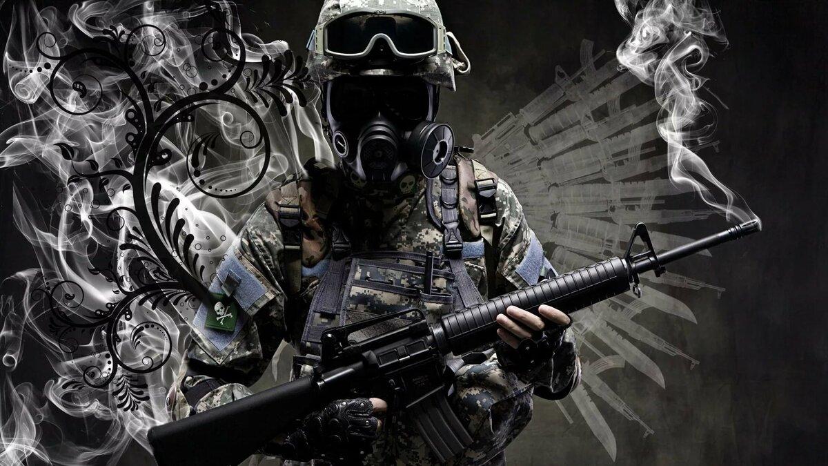 Картинки человек в маске с оружием