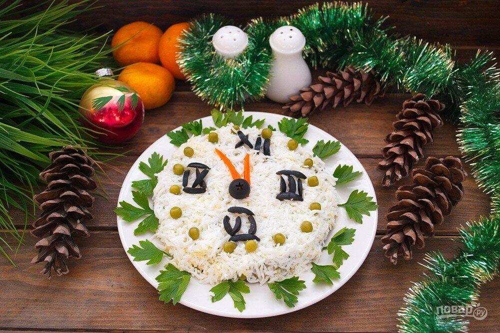 Картинки новогодние салаты