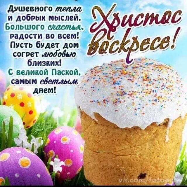 Христос воскрес поздравления красивые