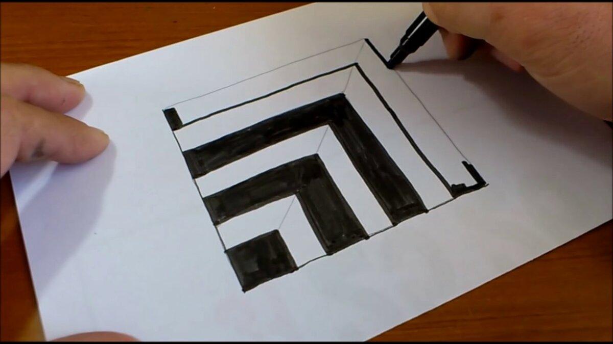 иллюзия рисунки карандашом для начинающих поэтапно его