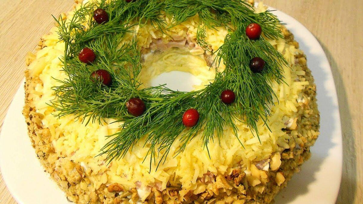 Новогодние салатики рецепты с фото простые