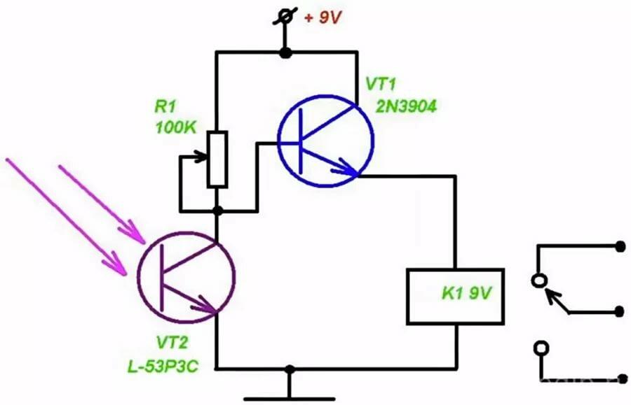 простые схемы с фоторезистором