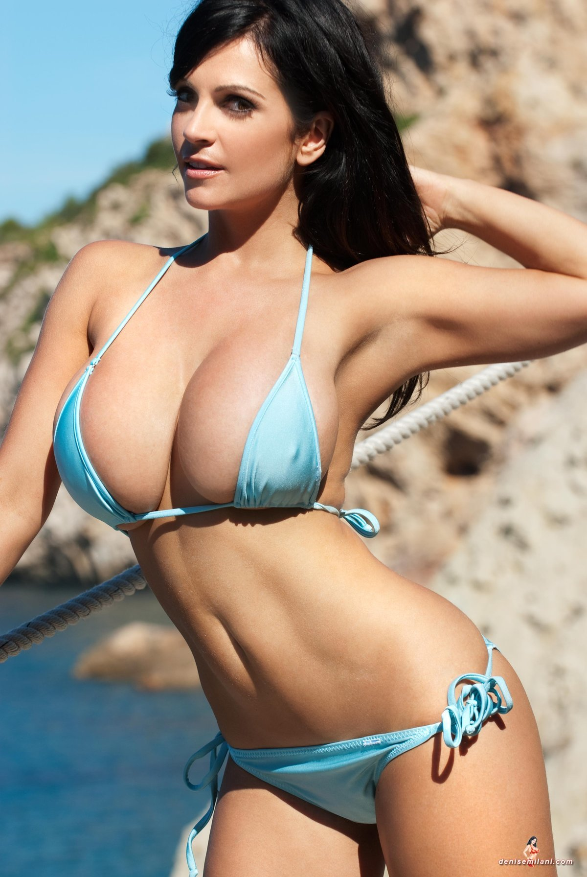 Busty women in bikini