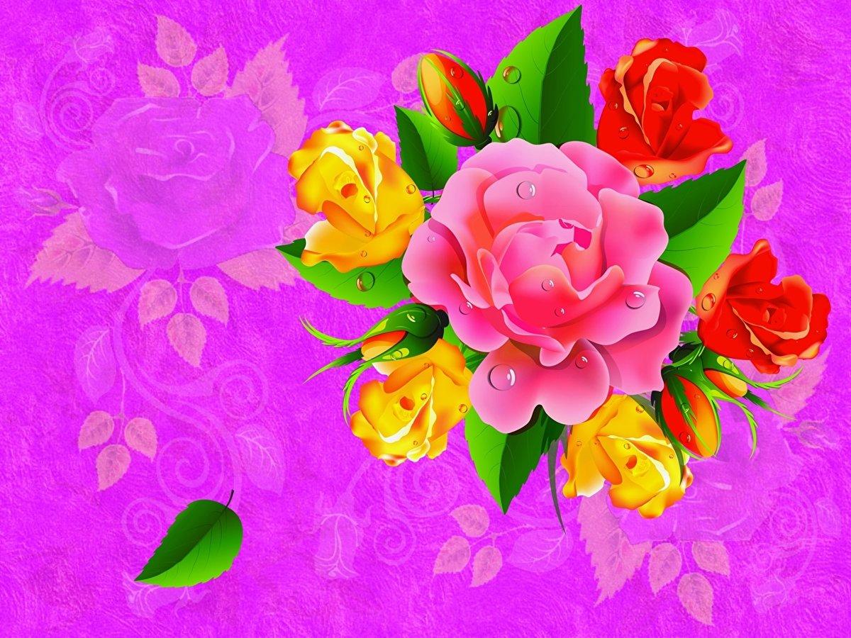 Картинки цветов для открыток с днем рождения