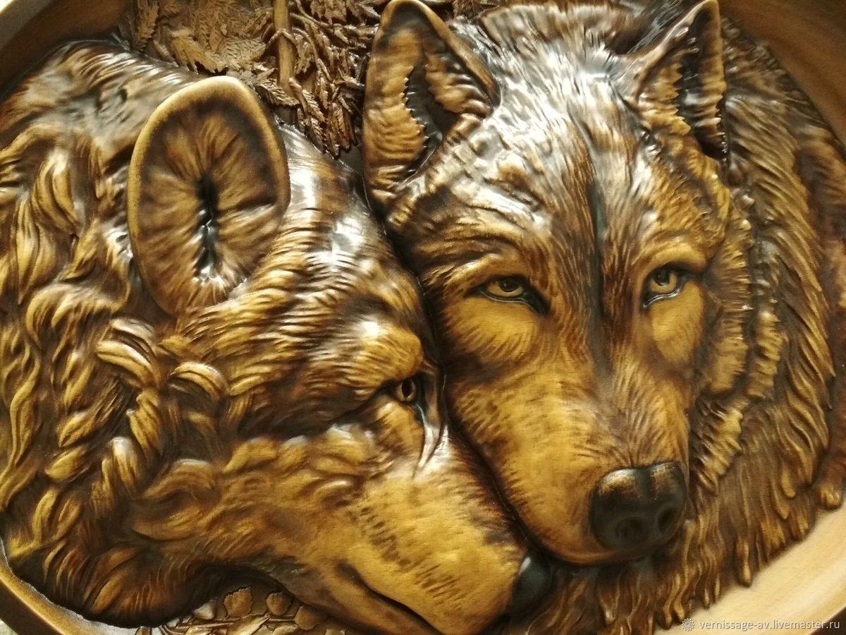 картинки для резьбы по дереву с волками того, россии