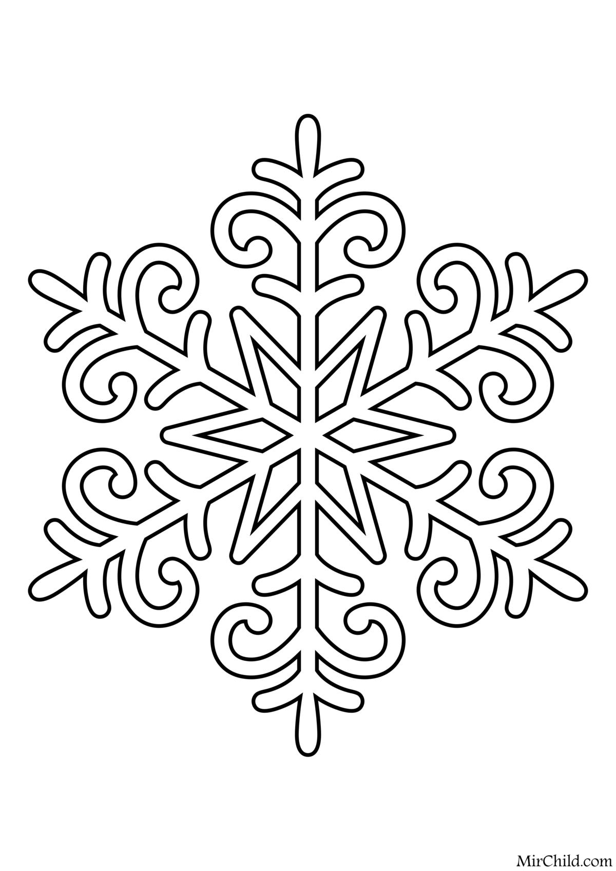картинка трафарет снежинки