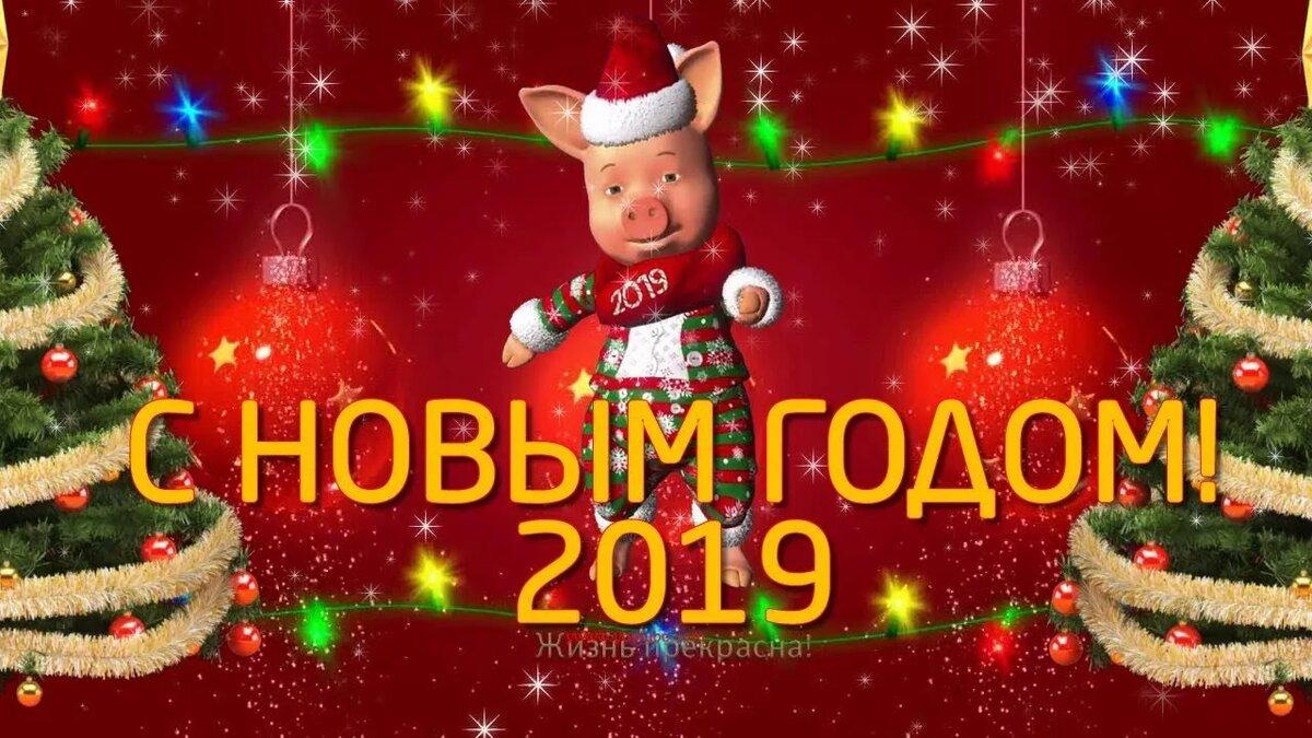 Видео поздравления с новым годом 2019 свиньи, своими