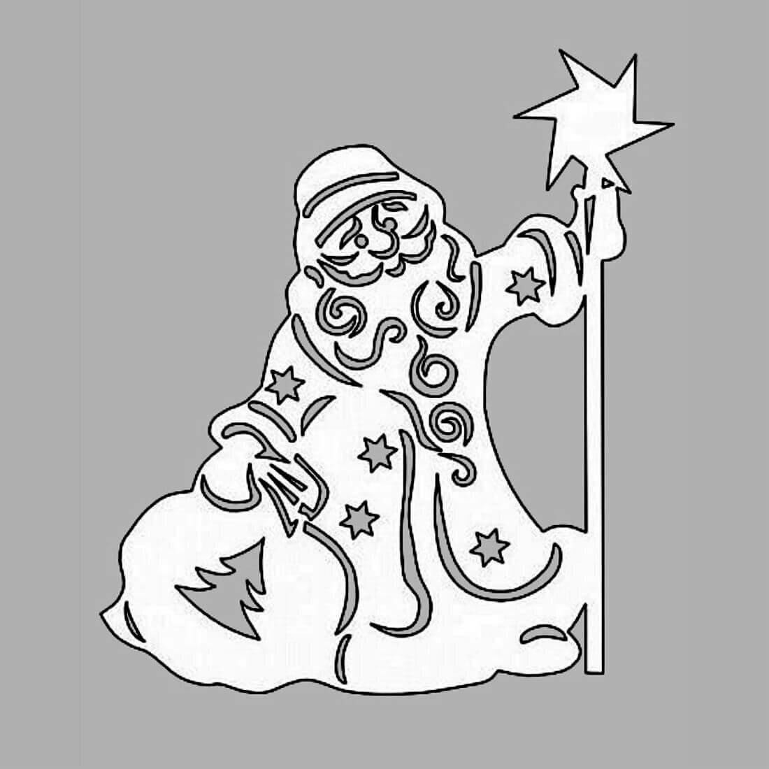 Для, рисунки на новый год прикольные из бумаги на окна