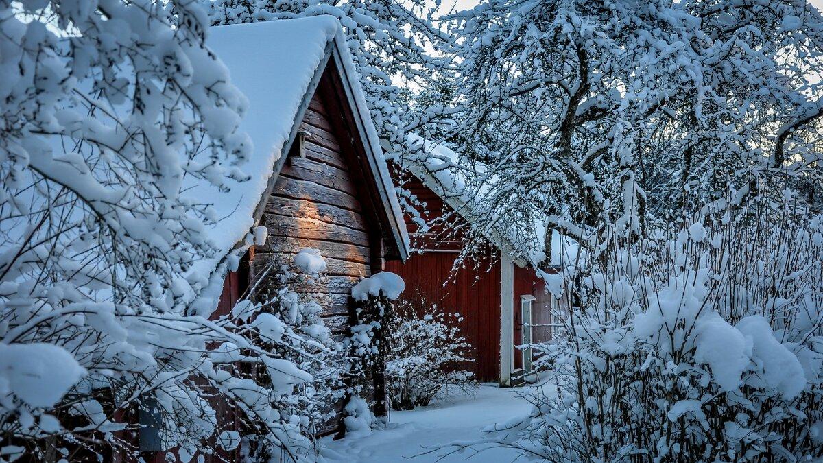 домик в снегу фотообои для рабочего стола рекордные левиафаны