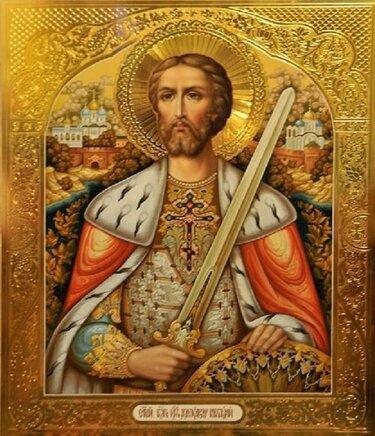 святой благоверный князь александр невский икона