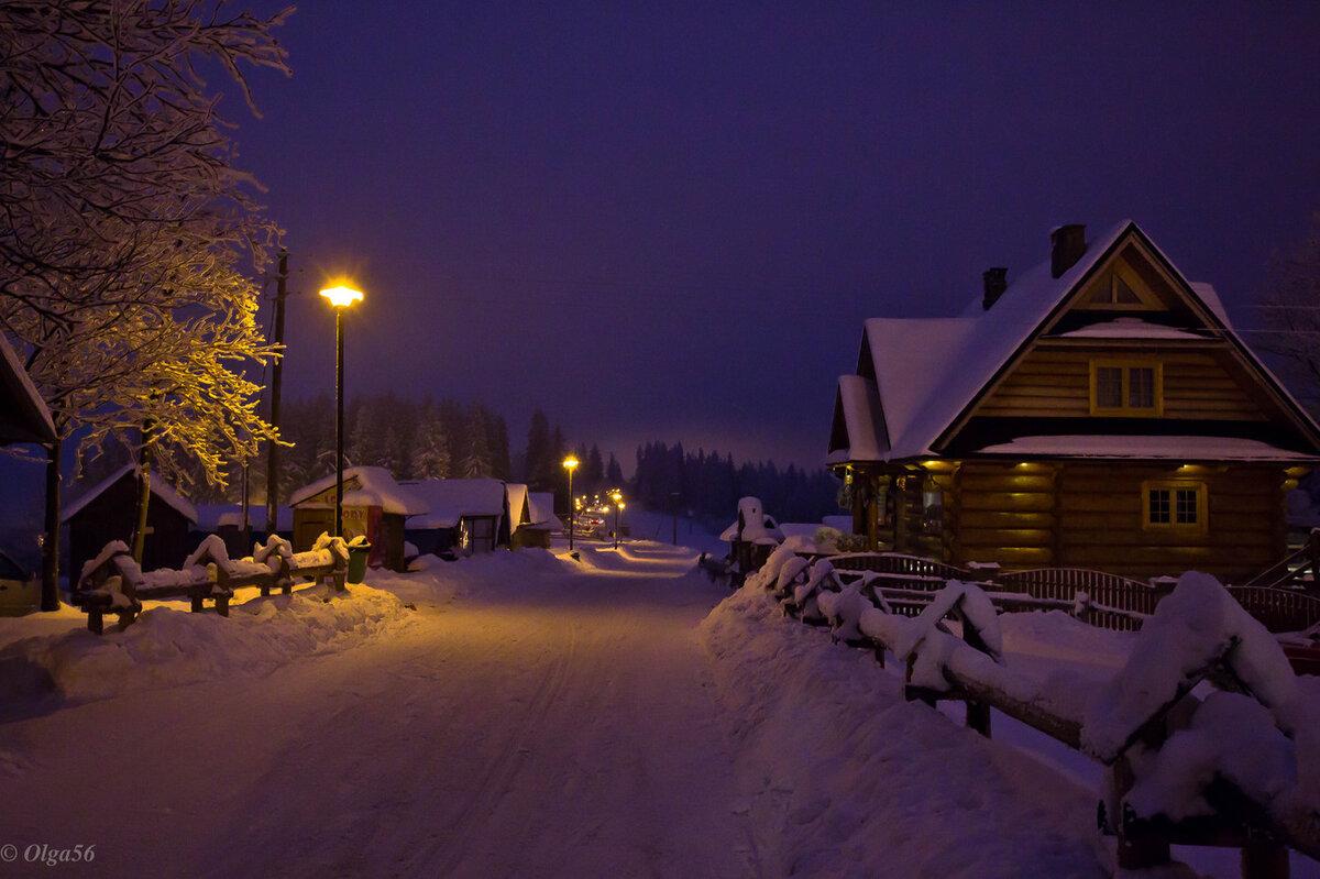 зимний вечер в польше картинка все шестеро бурно