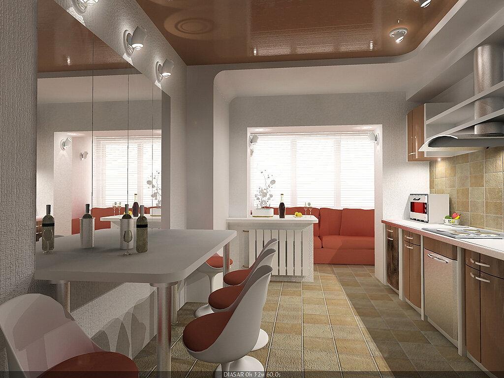 Картинки объединение лоджии с кухней