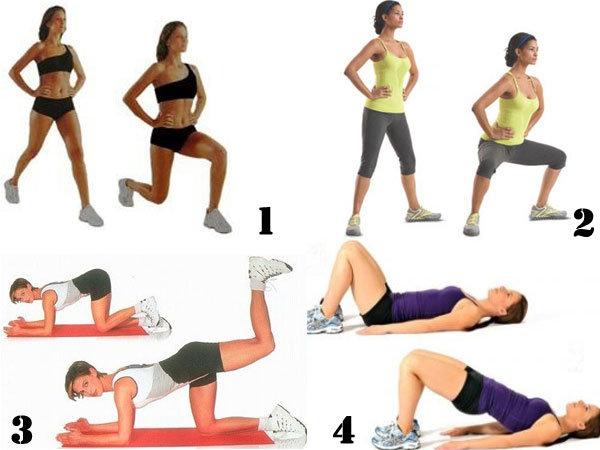 тренировка для похудения ног и бедер