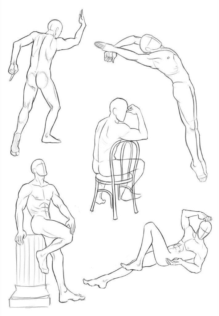 Картинки люди в движении карандашом