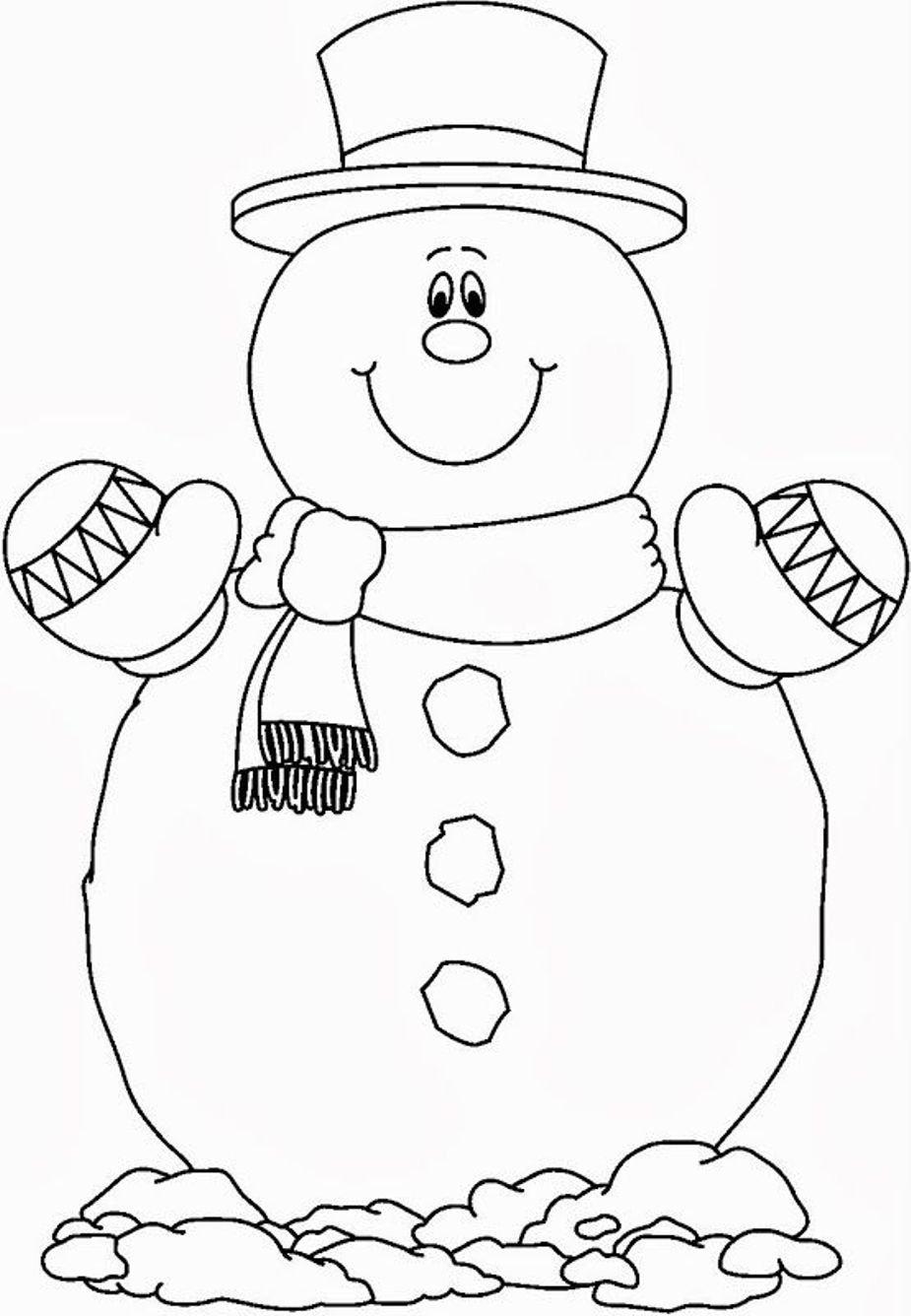 Картинки снеговика раскраска