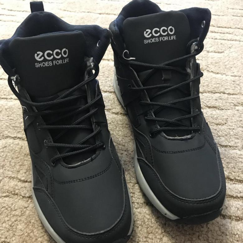 Кроссовки зимние Ecco N301 мужские. Зимние кроссовки (темно синие) зимние  полуботинки Купить со 381a0965a9d8e