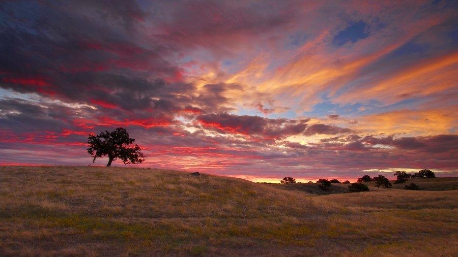 Закат солнца осенью  обладает воистину притягивающим волшебством.