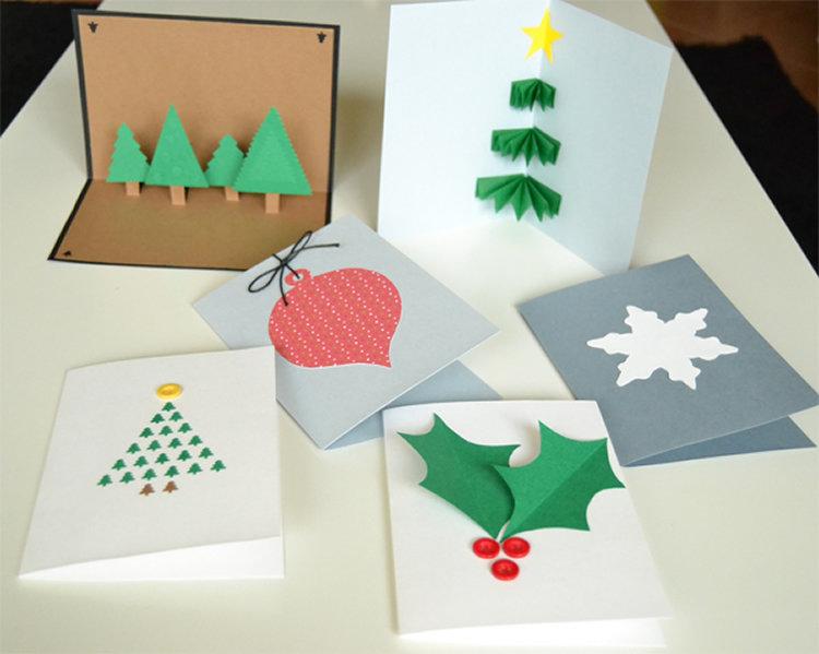 Открытки на рождество своими руками из бумаги, счастье