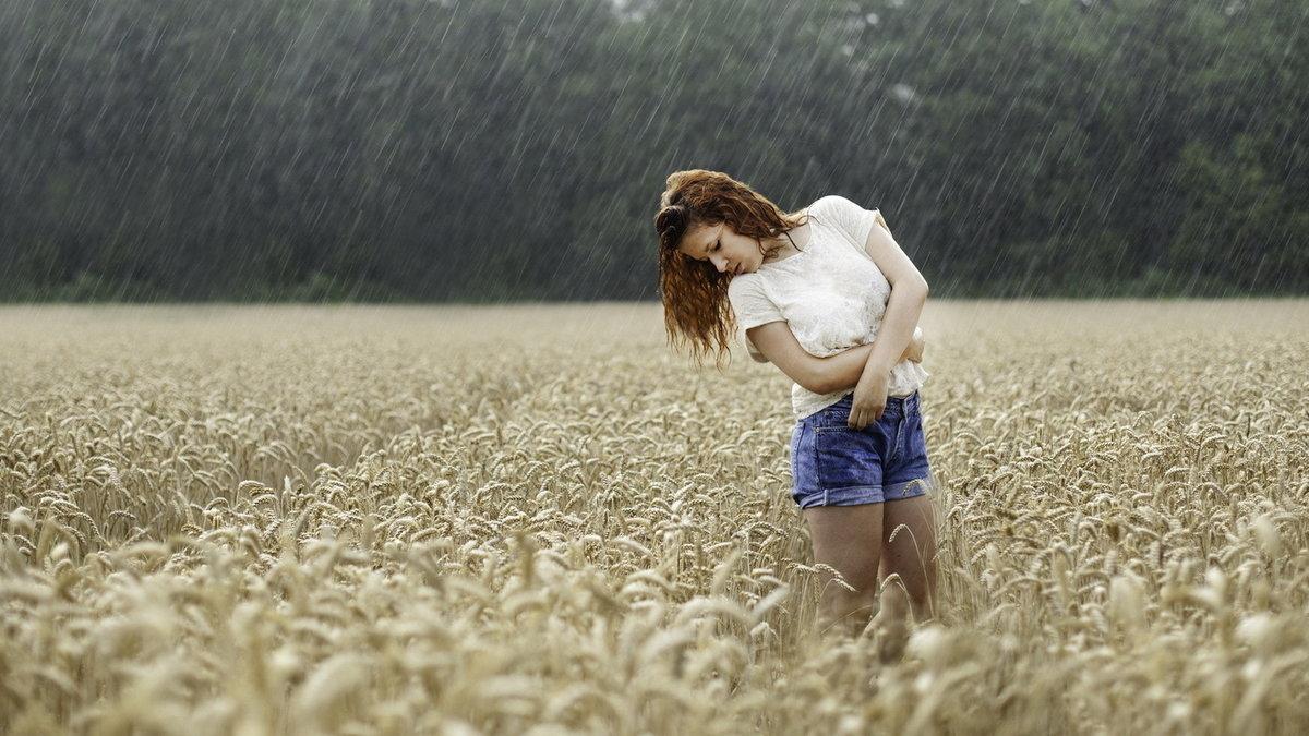 Картинки природа дождь девушка