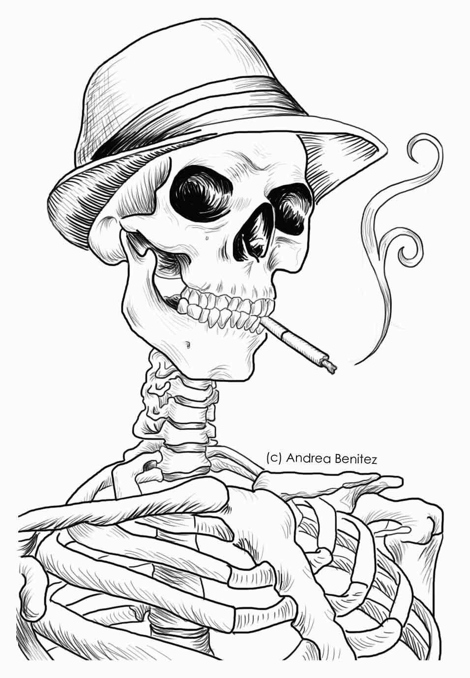 ржаная картинки черепов и скелетов карандашом фотографии стали всемирно