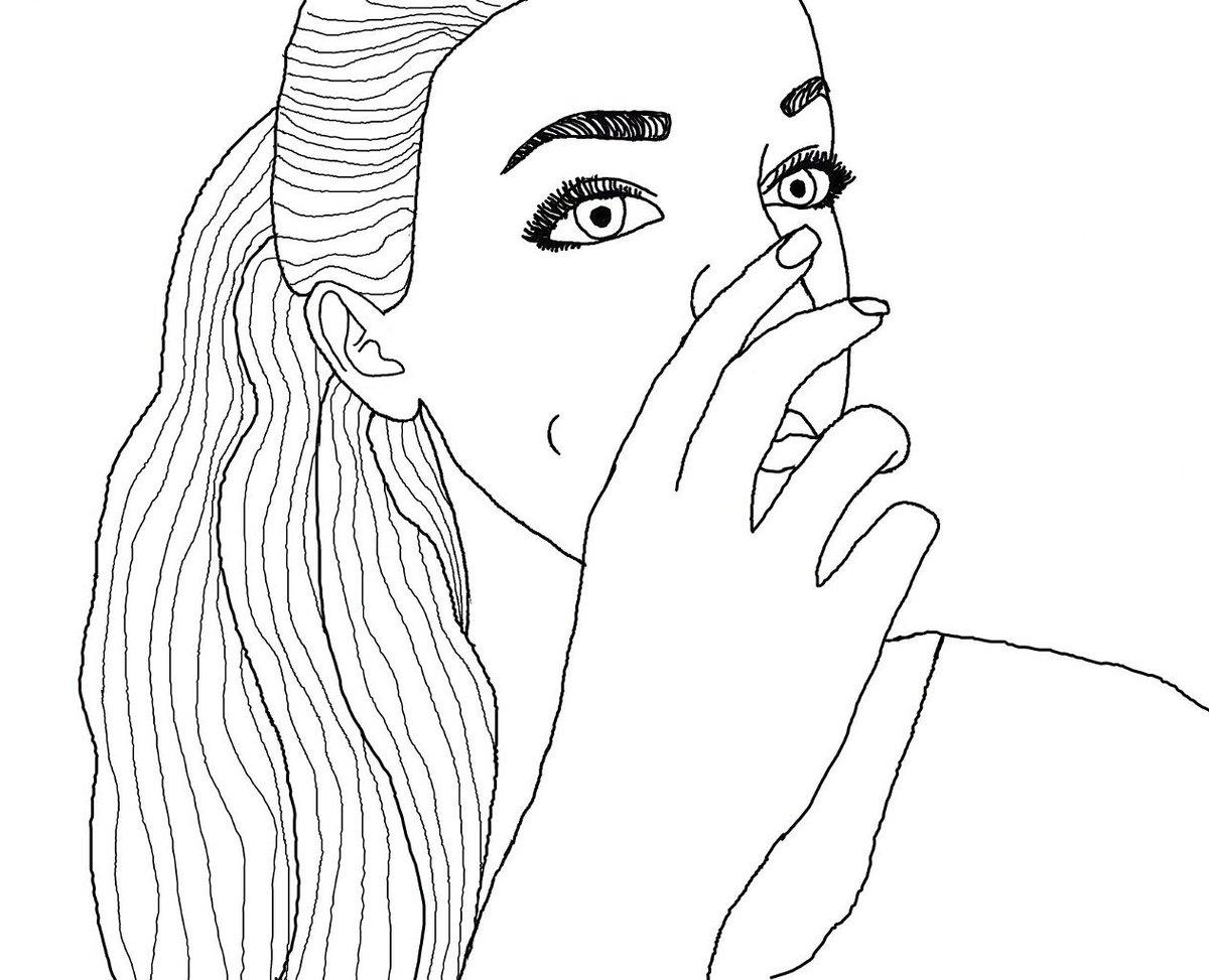 Картинки тумблер девушки раскраска