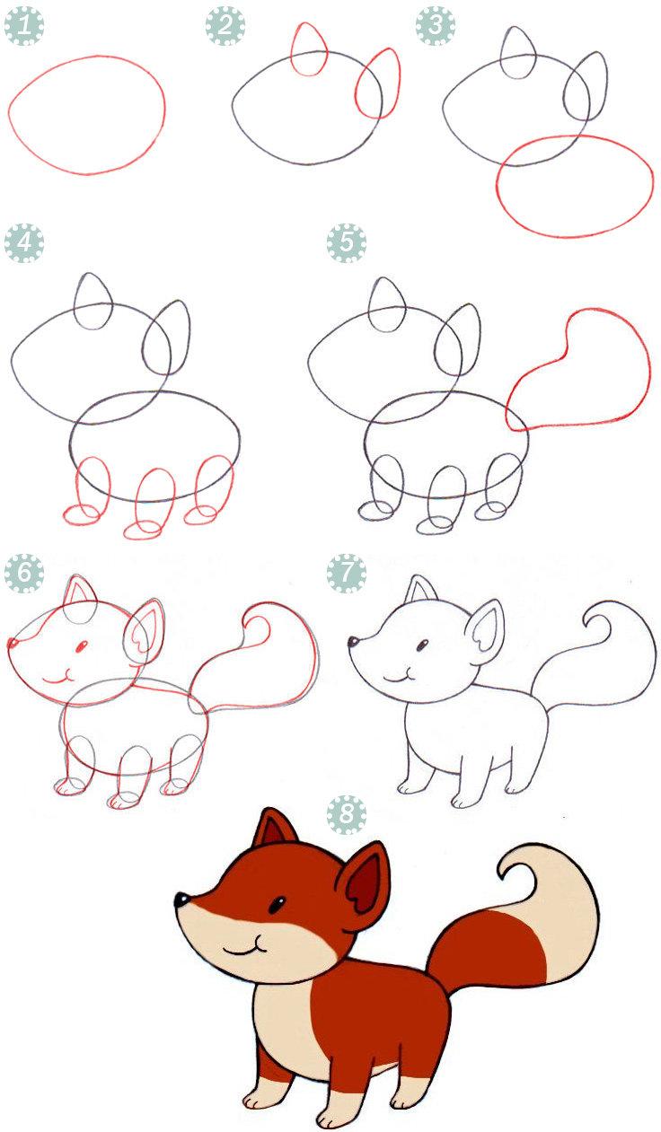Картинки, рисовать картинки поэтапно для детей 10 лет