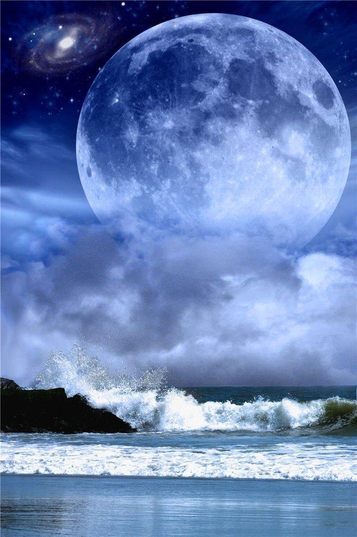 красивые картинки луны и звезд вертикально начинает