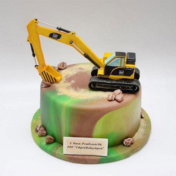 торт экскаватор картинки ходить